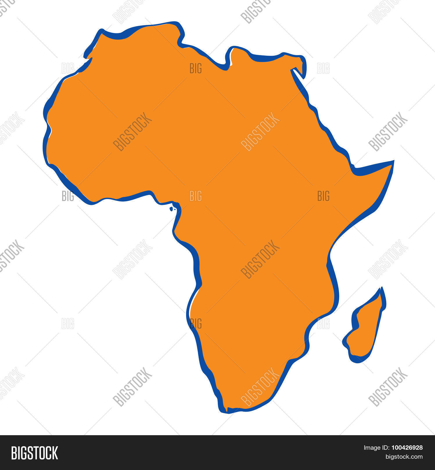 Map Of Africa Drawing.Drawing Map Africa Vector Photo Free Trial Bigstock