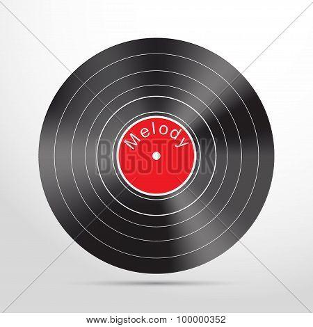 vinyl record web flat icon