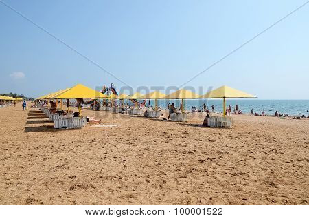 View On The City Beach In Kerch