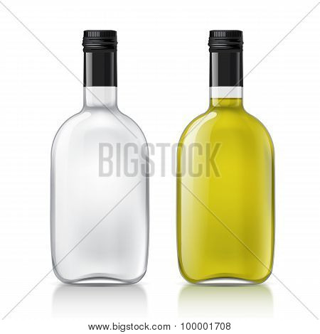 Template of glass bottle