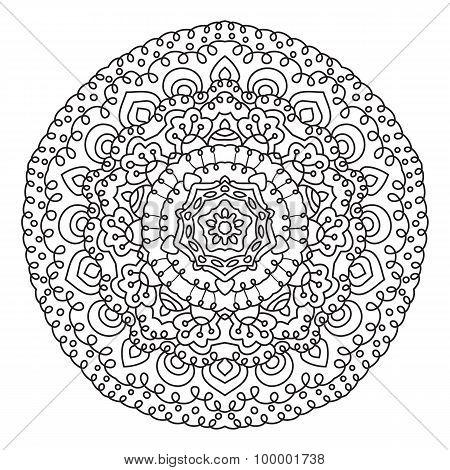 Circular symmetric ethnic pattern.