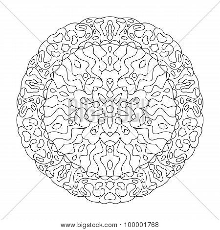 Round mandala for coloring.