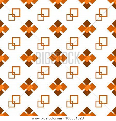 Seamless repeating pattern of brown squares
