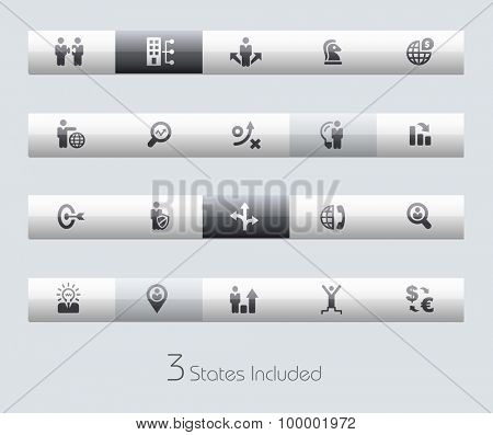 Business Strategy // Classic Bars +++ The vector file includes 3 buttons states in different layers. +++