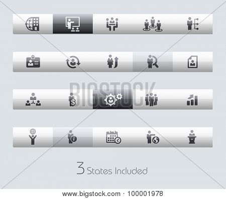 Human Resources // Classic Bars +++ The vector file includes 3 buttons states in different layers. +++