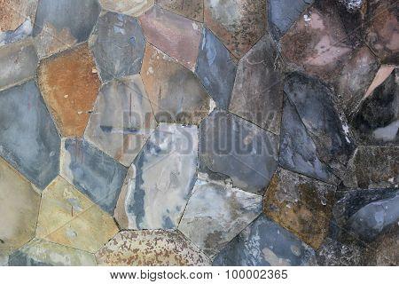 Pattern Of Stone Wall.