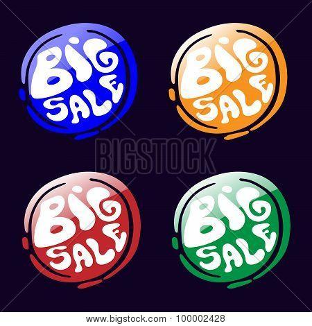 Big Sale Icons Set.