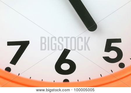 Clock Face In Time Concept.