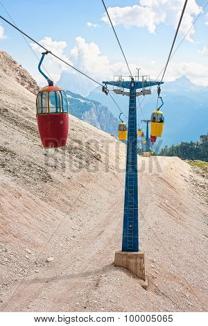Cable Car Iun The Dolomites