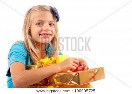 Happy With Many Gift Boxes