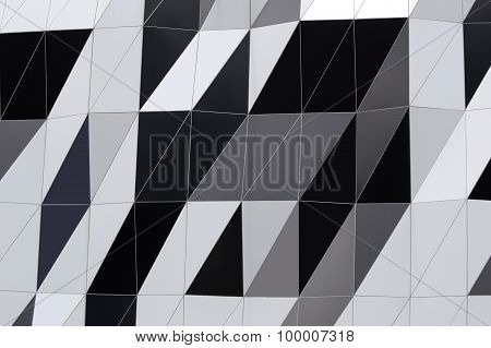 Abstract Motifs Of The Building Wall.