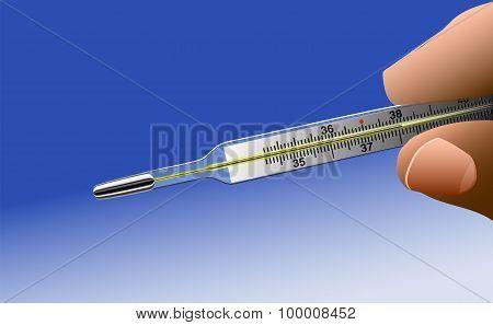 Hand Mercury Thermometer