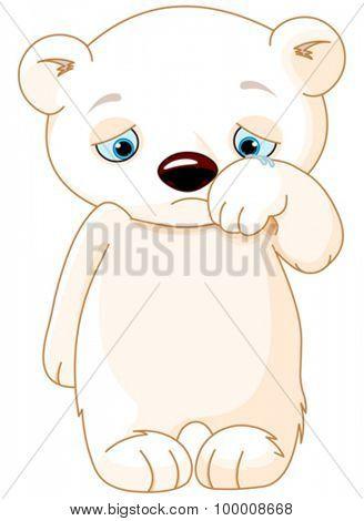 Illustration of sad polar bear