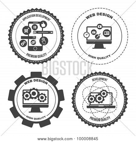 Set Of Icons Web Mobile Services Apps