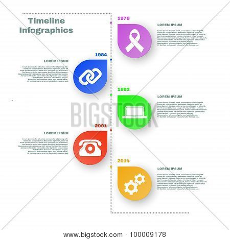 Colorful Timeline Infographics. Vector