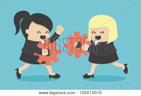 Businesswomen Teamwork