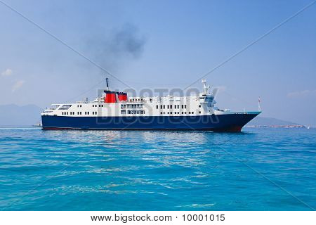 Passenger Ship At Sea