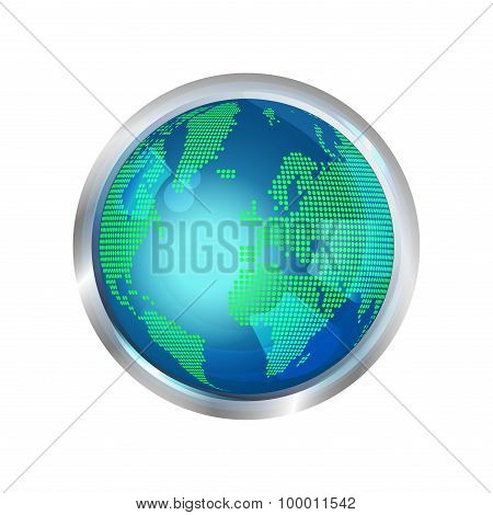 Abstract glass globe icon
