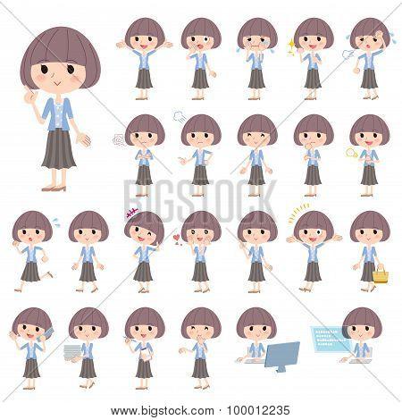 Mash Hair Blue Cardigan Women