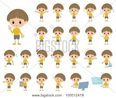 Yellow Clothes Bobbed Boy