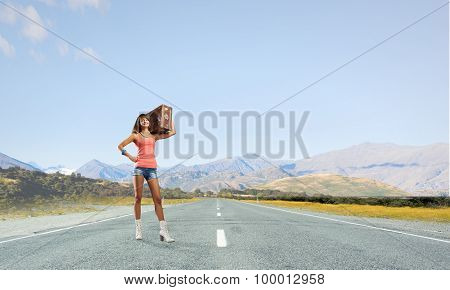 Hitch hiking traveling