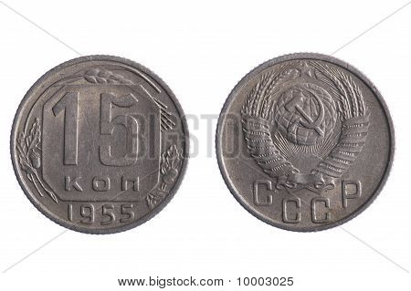 Russia Coin Isolated On White Background