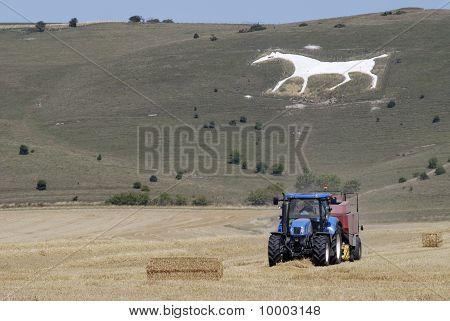 Tractor Under White Chalk Horse.