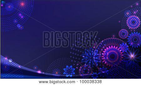 Abstract dark-blue background