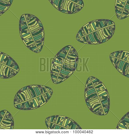 Green Leafs seamless Pattern