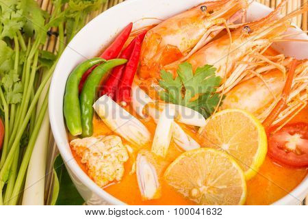 Tom Yum Goong, Thai Hot Spicy Soup Shrimp