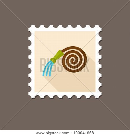 Garden Hose Flat Stamp With Long Shadow