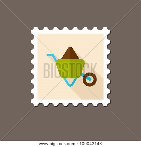 Wheelbarrow Carts Flat Stamp