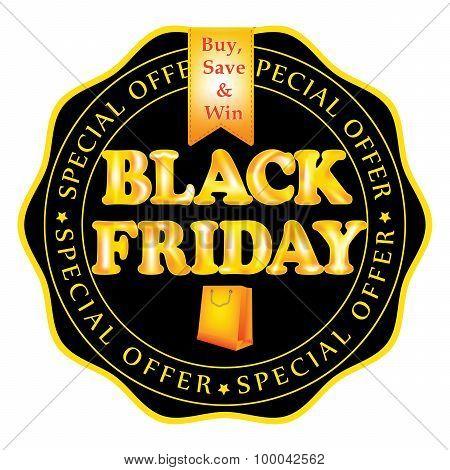 Black Friday badge / stamp, also for print