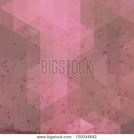 Geometric retro background with grunge texture