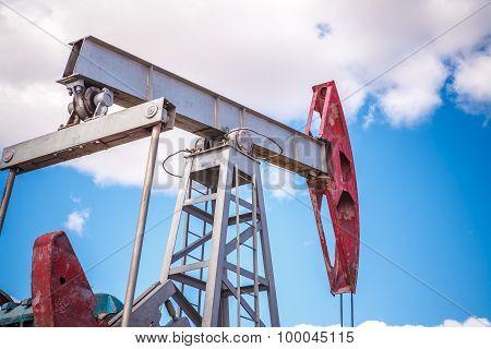 Oil Pump In Outdoors Field