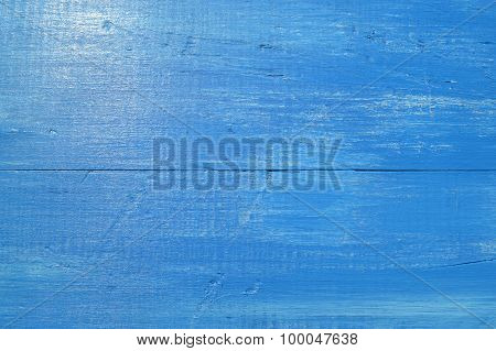 Abstract texture of really old wood colored in blue colour