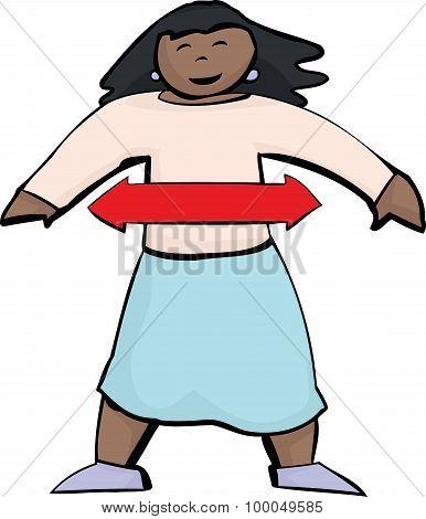 Diagram Of Balanced Hispanic Woman