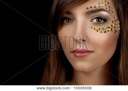 Closeup Of Beautiful Young Woman