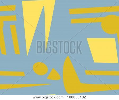 Abstract Yellow Seamless Footprints
