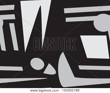 Abstract Gray Footprints Pattern