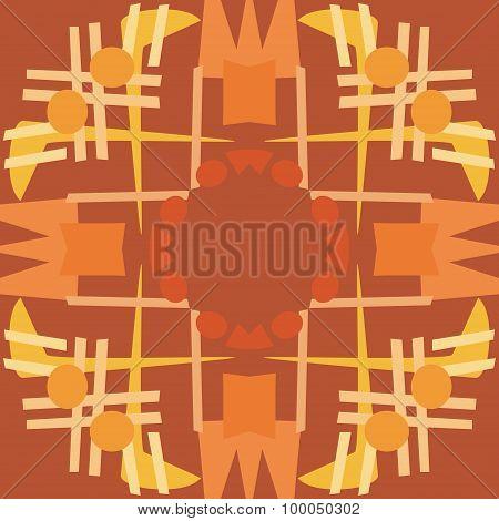 Brown Symmetrical Tile Patterns