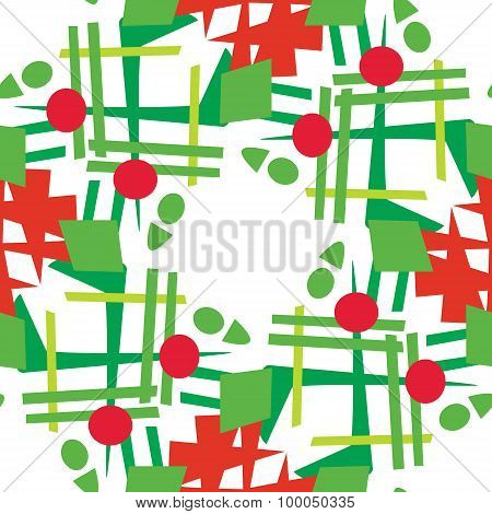 Abstract Christmas Wreaths