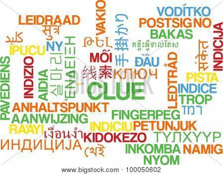 Background concept wordcloud multilanguage international many language illustration of clue