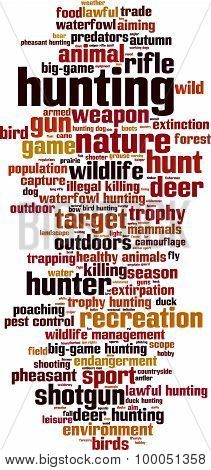 Hunting Word Cloud