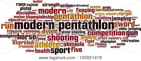Modern Pentathlon Word Cloud