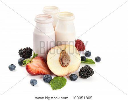 Yogurts And Fruits