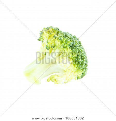 Fresh Green Broccoli Ingredient Side View