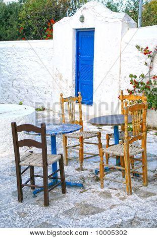 Mykonos Outside Seating