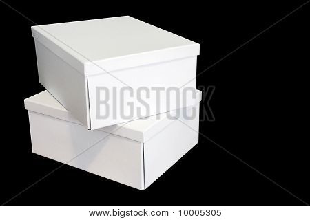 White Boxes On Black Background