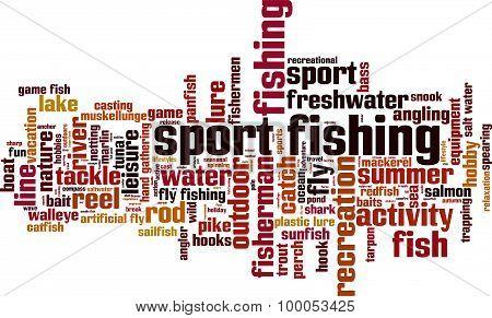Sport Fishing Word Cloud